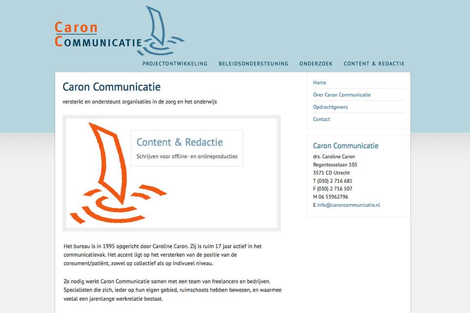 website Caron Communicatie