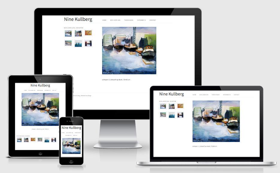 website Nine Kullberg responsive design