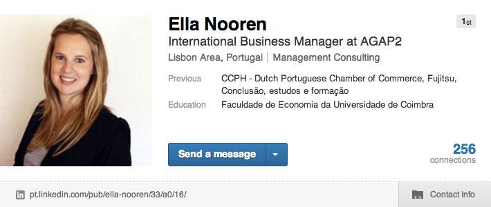 Linkedin-profiel Ella Nooren