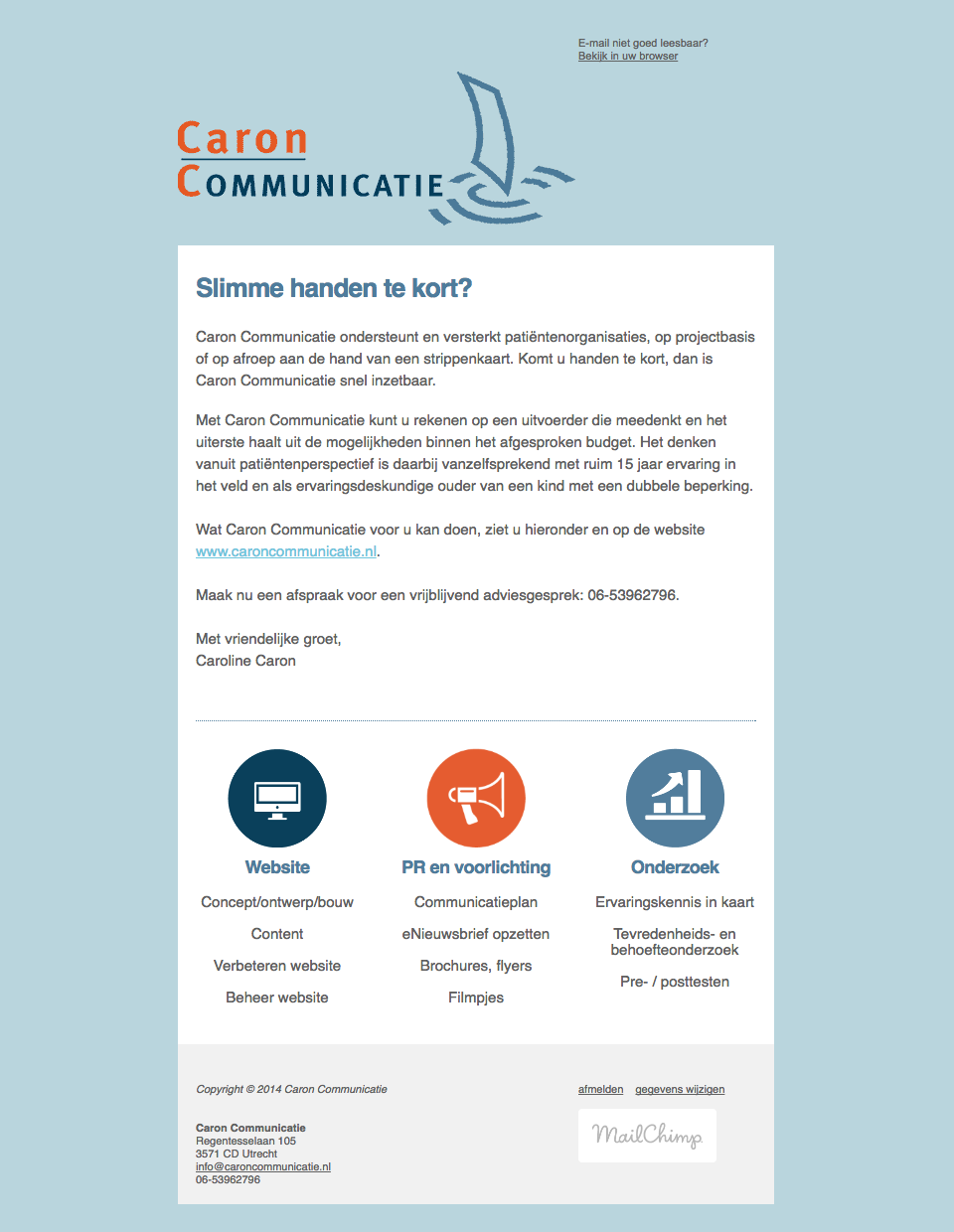 Caron Communicatie Newsletter