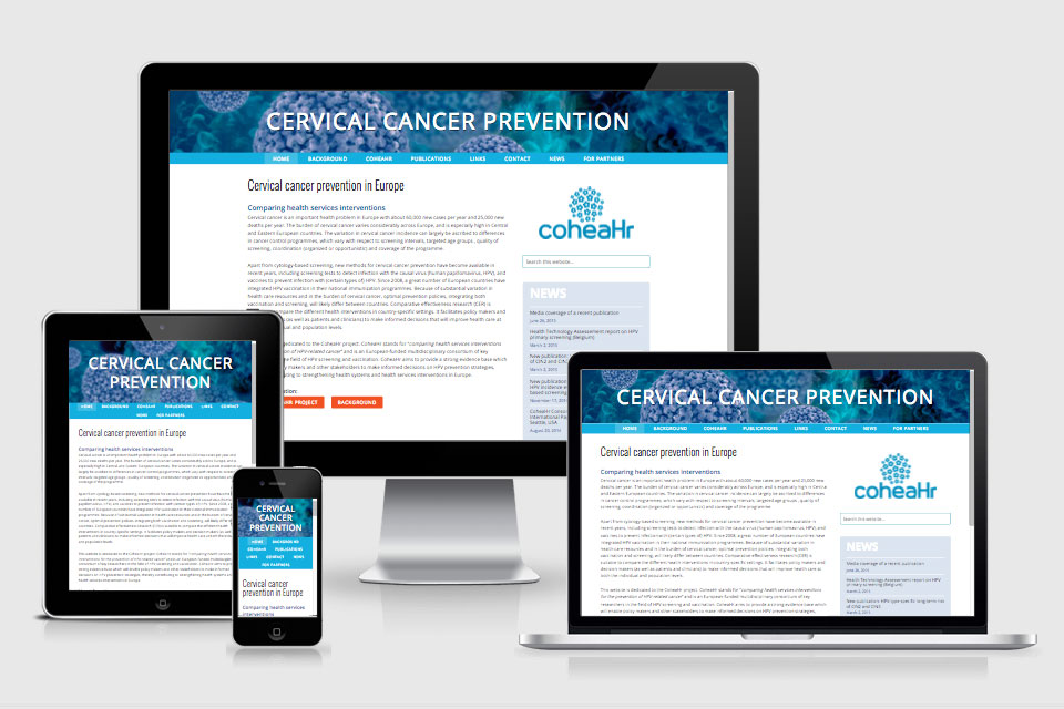 CoheaHr website responsive design