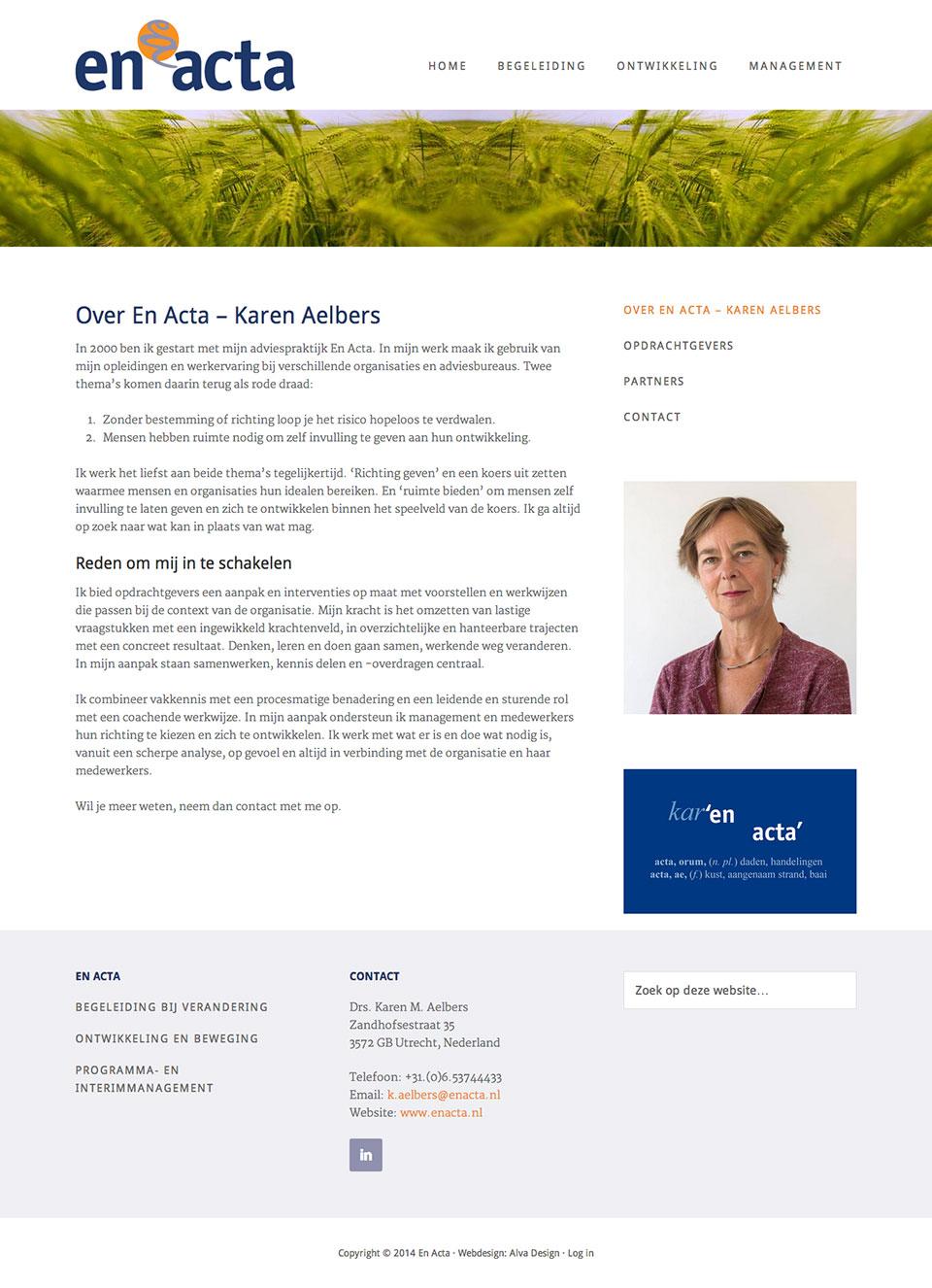 website En Acta vervolgpagina