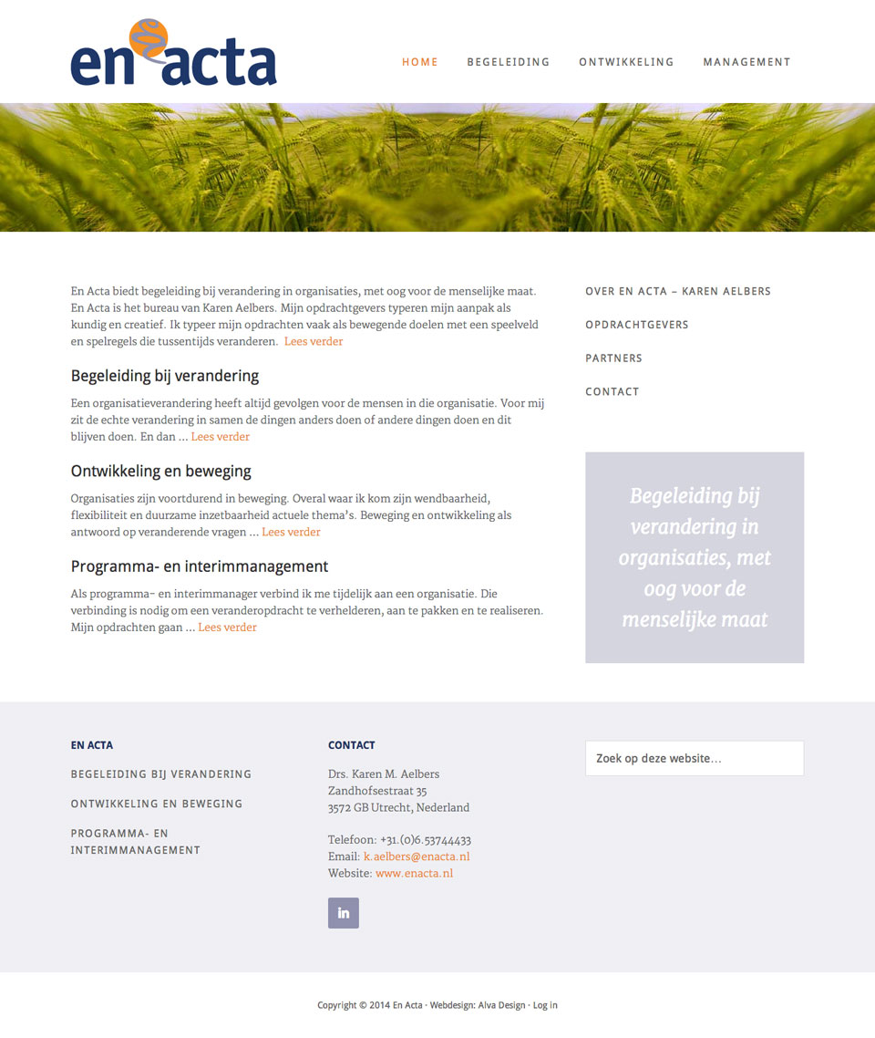 website En Acta homepage