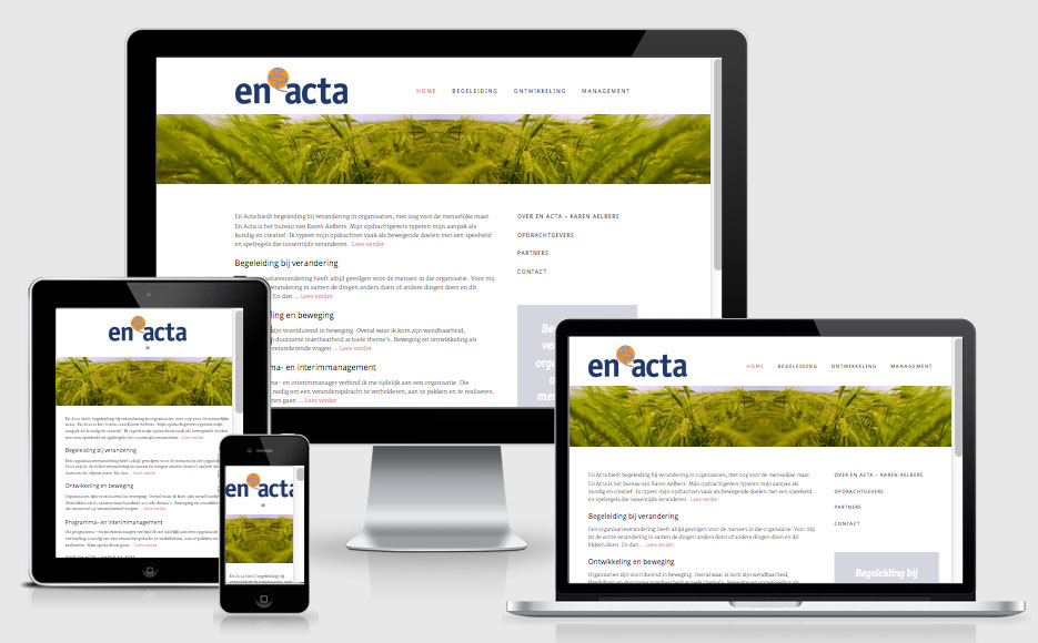 website En Acta responsive design