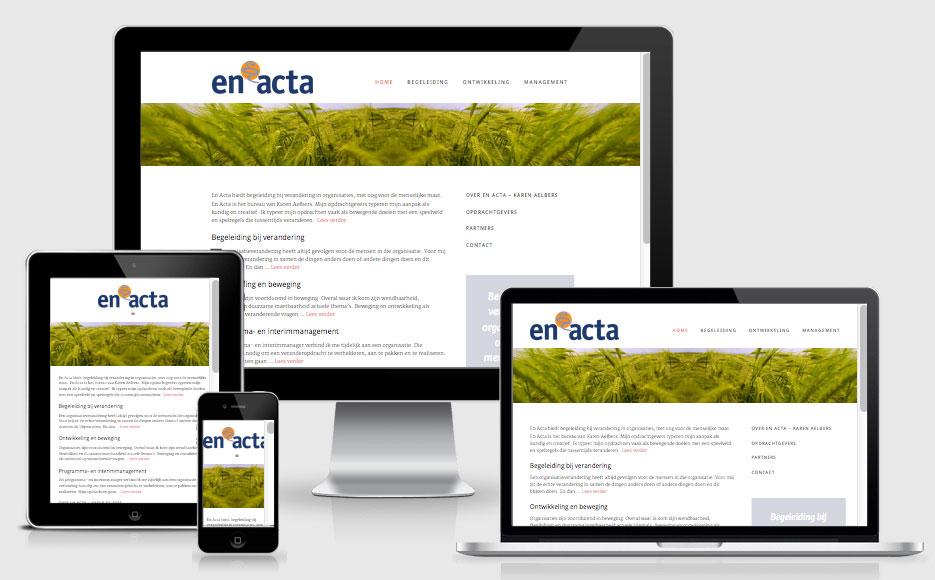 website En Acta responsive design