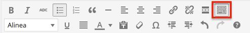 WordPress knoppenbalk