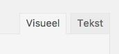 Visueel-Tekst tabs WordPress