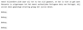 witregels in tekst tab